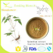 Male enhancement Epimedium leaf extract powder pure Icariin 5% -98% Epimedium extract