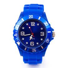 Classic iceful silicone quartz watch for boy and girls