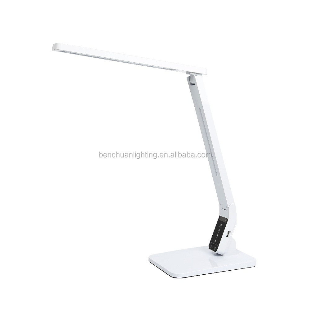 Energy Saving Light source table office desk lamp studying lamp with USB four CCT five level brightness auto off timer