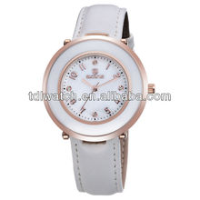 9293 2014 New products women leather trend design quartz watch