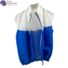 manufacturer clothing sports silk screen printed 100% cotton sliver sleeveless reflective vest jacket with zipper