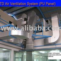 Pu Air Ventilation Duct System With Coating And Glue