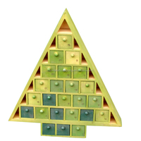 Wooden Christmas Advent Calendar Chocolate Box For Gifts,High Quality New Popular Wooden Gifts Chocolate Box