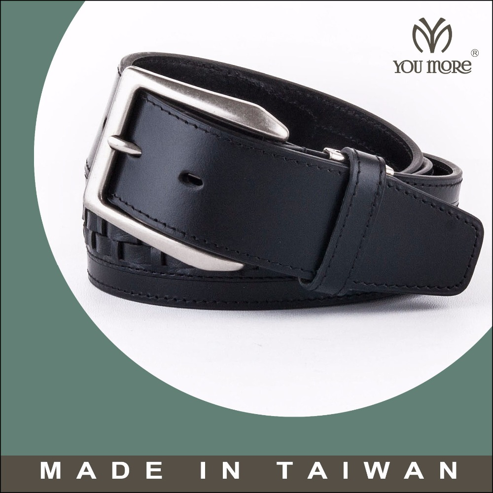 2016 new design men genuine braided real leather belts italy
