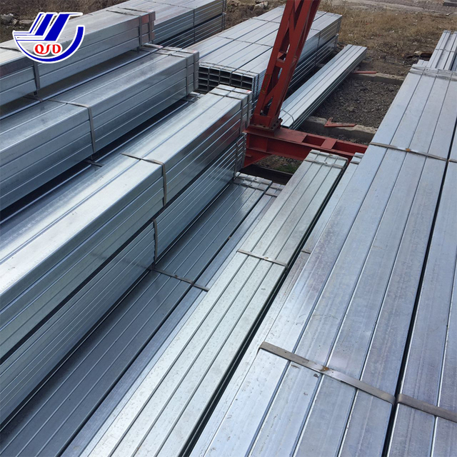 china manufacturer punch holes free cutting 75*75*2.5 galvanised/gi square pipe tube price list