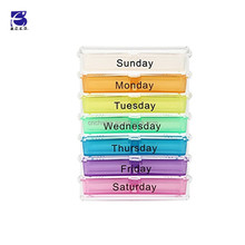 Weekly Pill Box - Portable Travel Organizer Reminder 7 Day 28 Compartments Tablets Storage Box Medicine Dispenser Vitamin Holder