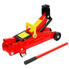 red handle hydraulic floor jack