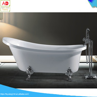 AD-S11 cheap clawfoot tub red acrylic claw foot tubs deep soaking bathtub white color