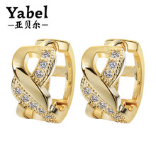 Dubai 24k Gold Jewelry Earrings Laser Cut Earrings For Young Girl