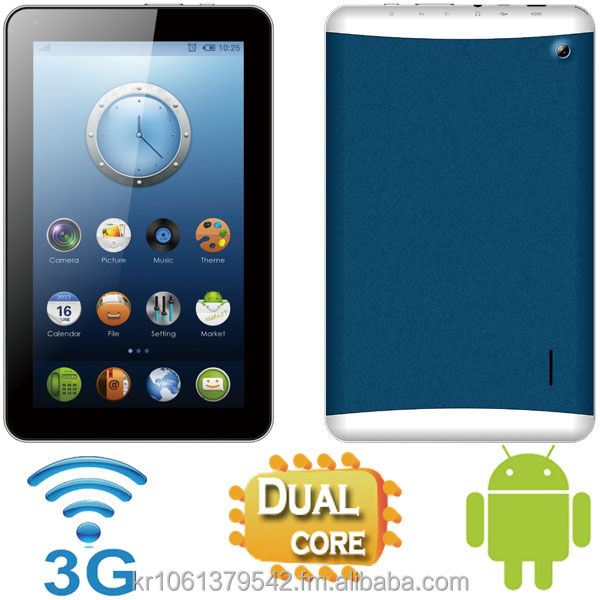 9 inch 3G Android Tablet PC with GPS, Dual Core, 4GB + 512MB, Dual Camera(Front + Back), Bluetooth, FM