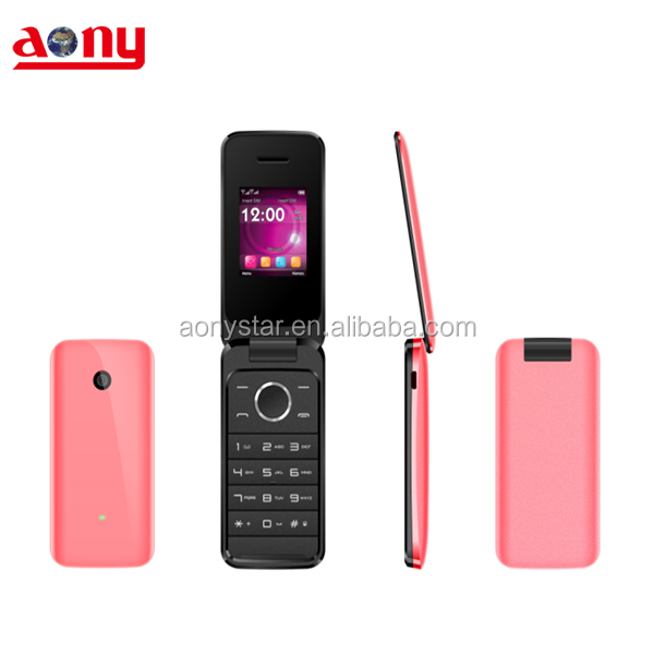 1.8 inch very small flip mobile cheap phone with whatsapp facebook Dual Sim Card Quad band wholesale cell phone