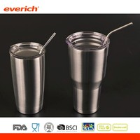 Free sample 30oz insulated double wall stainless steel tumbler with stainless steel straw