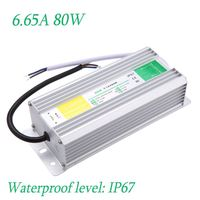High efficiency Connector for LED Strip AC 90-250V to DC 12V 6.65A 80W Voltage Waterproof IP67 Transformer Switch Power Supply