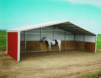 CUSTOM STEEL HORSE SHELTER/ANIMAL SHELTER