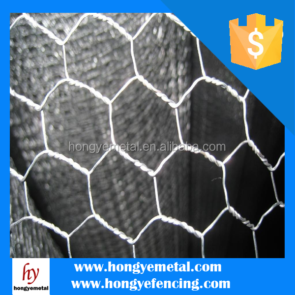 China Metal Hot Dipped Electro Galvanized Double Twisted Animal Cage Fence Hexagonal Wire Mesh Factory Price