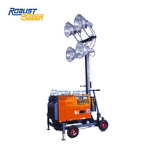 2KW balloon light metal halide portable light tower diesel gasoline generator public works events crowds
