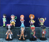 ONE PIECE action figures sets Hot sale One Piece action figure sets of 9pcs one piece sexy cartoon girl Nami