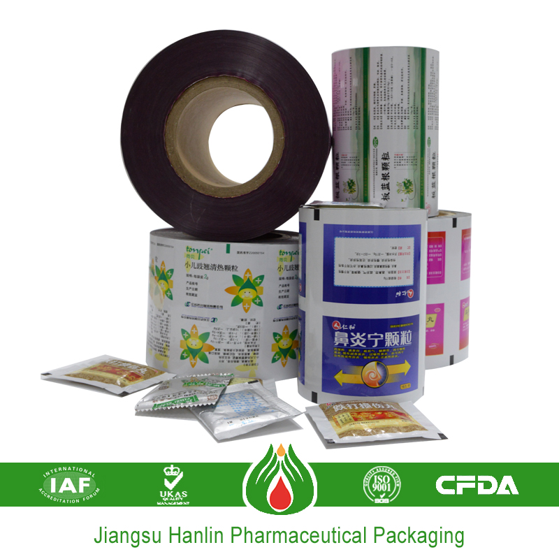 Soft packaging aluminium laminated plastic film rolls
