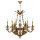 China factory decoration lamp 6 lights brass candle glass chandelier K9 crystal chandelier lighting