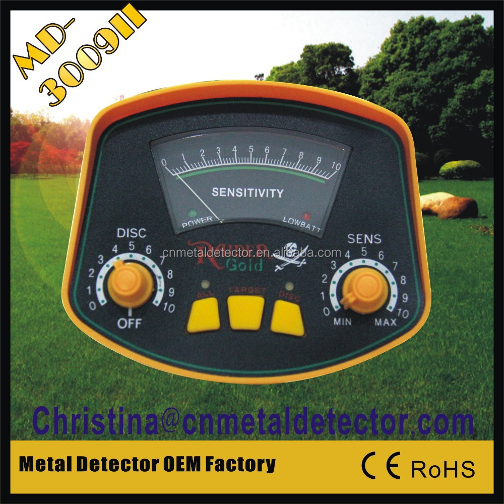Ferrous and Non-ferrous hobby underground metal detector MD3009II gold detecting machine