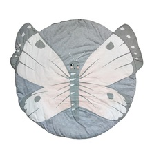 Best Selling Products Round Shaped Butterfly Printed Baby Play Mats Fit Room Decor Crawling Floor Blanket