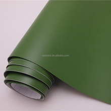 Matte Army Green Car Vinyl Wrap Bubble Free For Car Wrapping 1.52m*30m