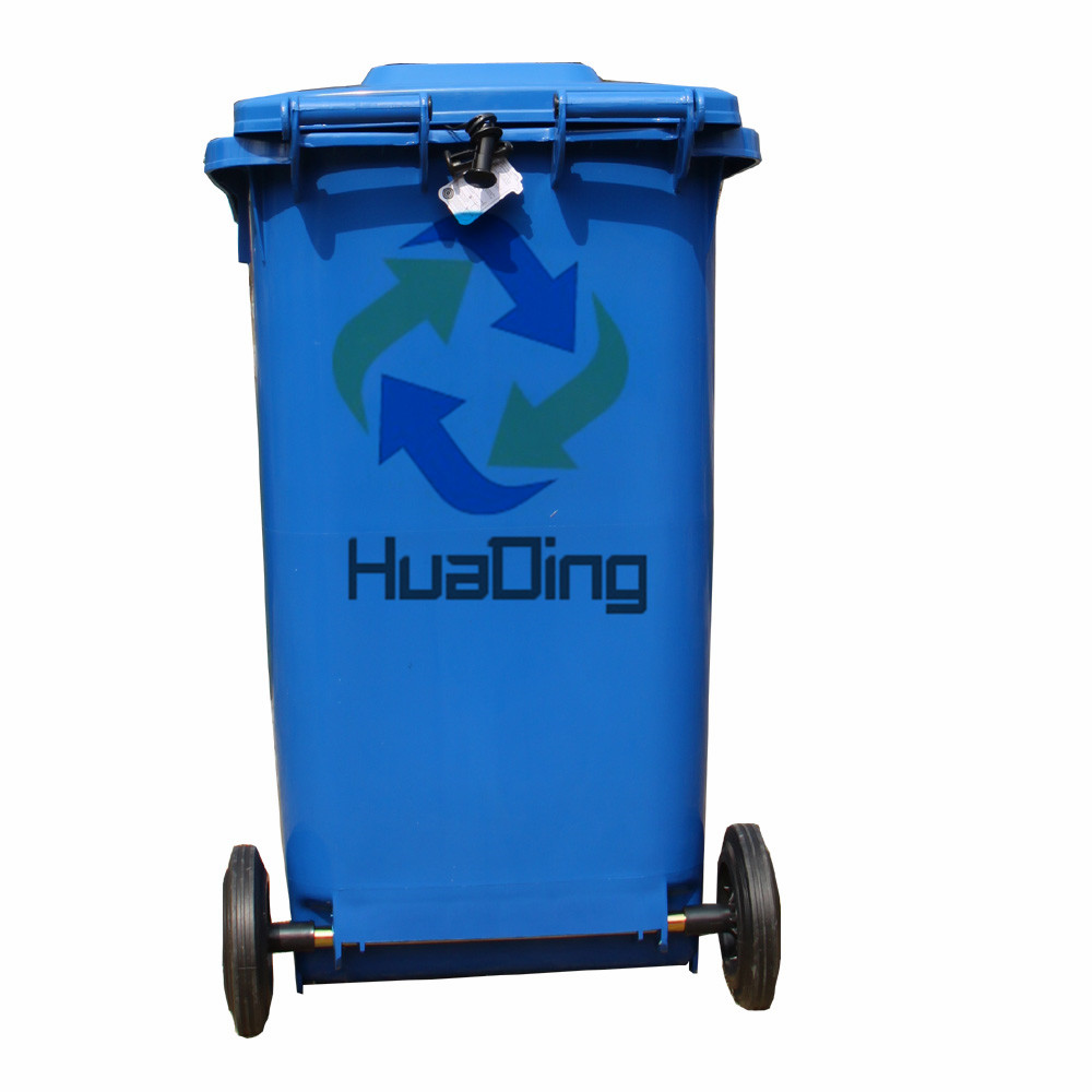 Hot for sale eco friendly 240L recycling bins outdoor plastic garbage bin with pedal