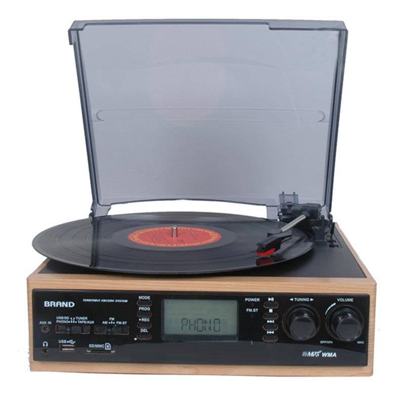 haut de gamme lp platine vinyle tourne disque pour no l. Black Bedroom Furniture Sets. Home Design Ideas