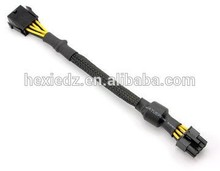 Black 8 needles CPU motherboard extension cord really 18 awg cable power extension 8 pin power cable 50 cm