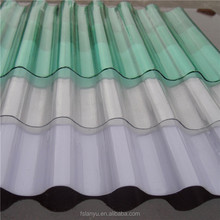 roofing material 1mm fireproof uv treated polycarbonate corrugated sheet
