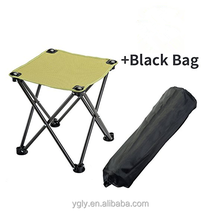 Folding Camping Stool, Portable Chair for Camping Fishing Hiking Gardening and Beach, Camping Seat with Black Bag