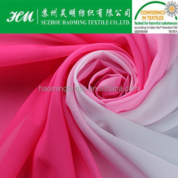 100d gradient color chiffon fabric