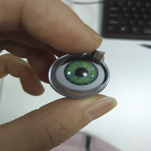 EN71 STANDARD  moving eyes with eyelashes for doll accessories