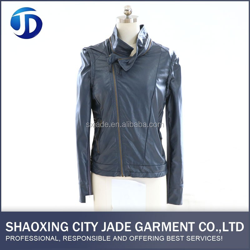 Hot Selling Reasonable Price Latest design PU Jacket Woman