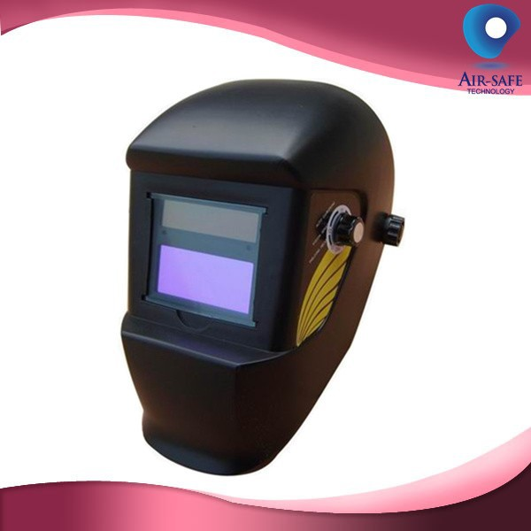 China OEM black auto darkening large view welding helmet