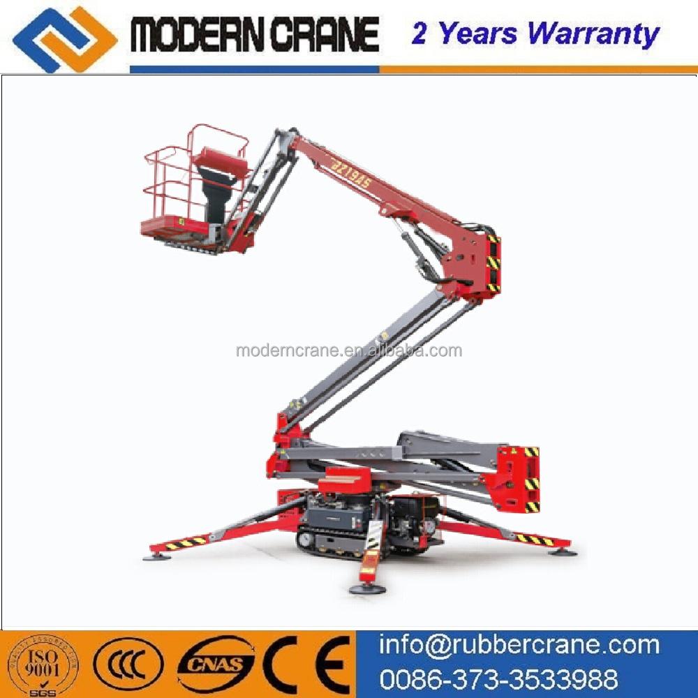 Accordion Articulated Arm : Hydraulic mobile boom lift folding arm