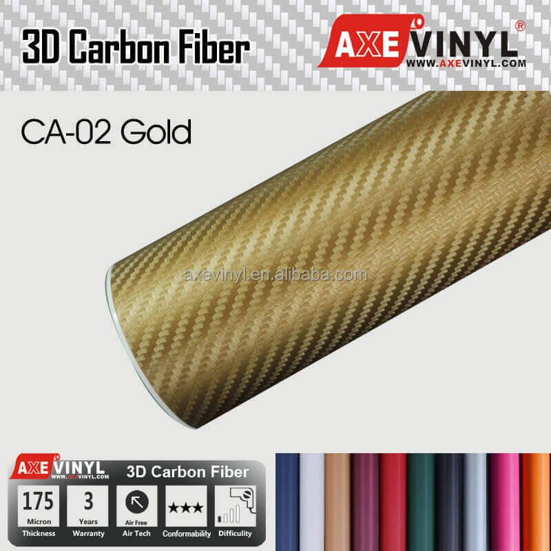 AXEVINYL Car Styling 2D 3D 4D 5D Carbon Car Sticker Vinyl Wrap Roll