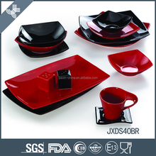 Best assotment black and red ceramic dinner sets wholesale exclusive dinnerware