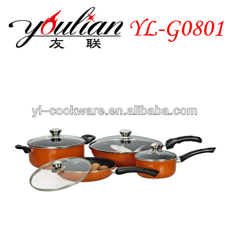 8PCS cookware set /Aluminum non-stick pot (Wal-Mart)