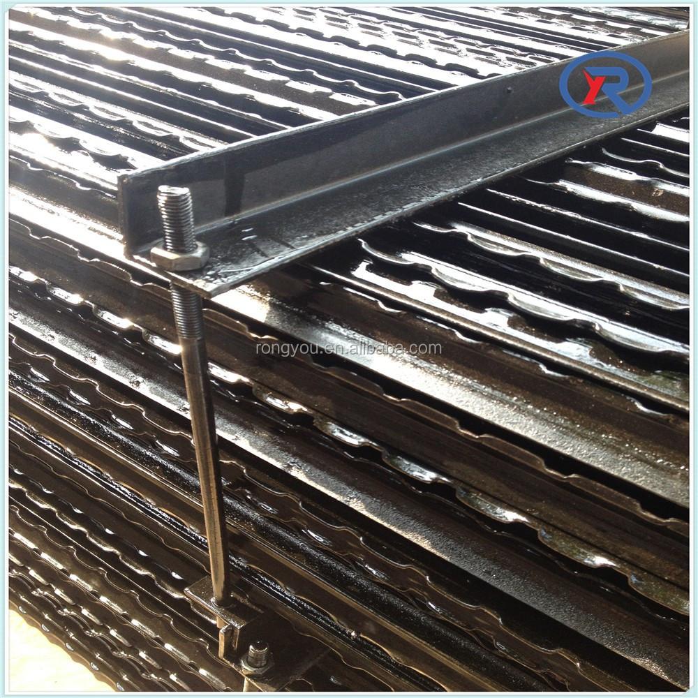 Zwart gelakt metalen palen hekwerk israël y stalen paal te koop ...