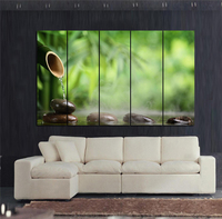Feng Shui Bamboo with Water Giclee canvas prints with framed