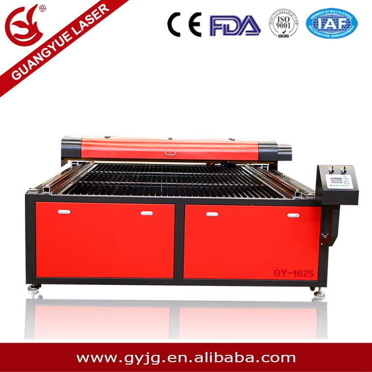 China supplier Co2 laser engraving machine textile cutting laser machine with best router price gy-1625