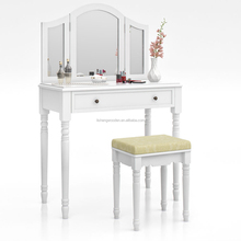 antique vanity set dressing table with mirrors and stool