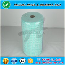 Industrial roll 60gsm Cleaning Machine blue plain nonwoven cleaning fabric