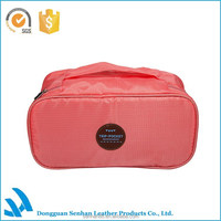 New Arrival Barrel Shaped Travel Cosmetic Bag polyester High Capacity