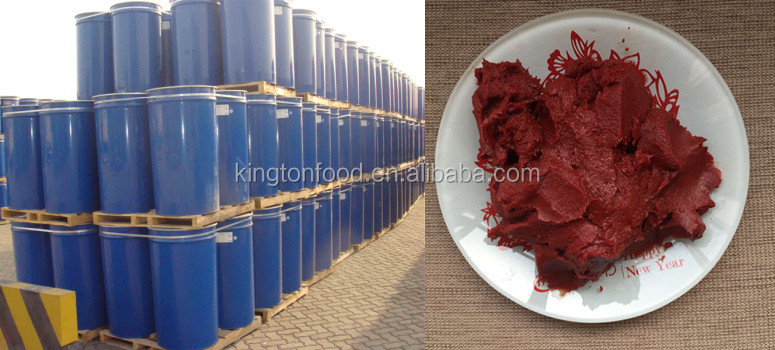 Tomato paste made of new crop in drums of 220L with 28/30 or 36/38 brix