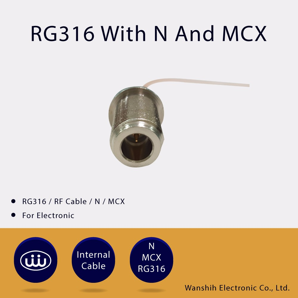 N MCX RG316 RF Coaxial Cable