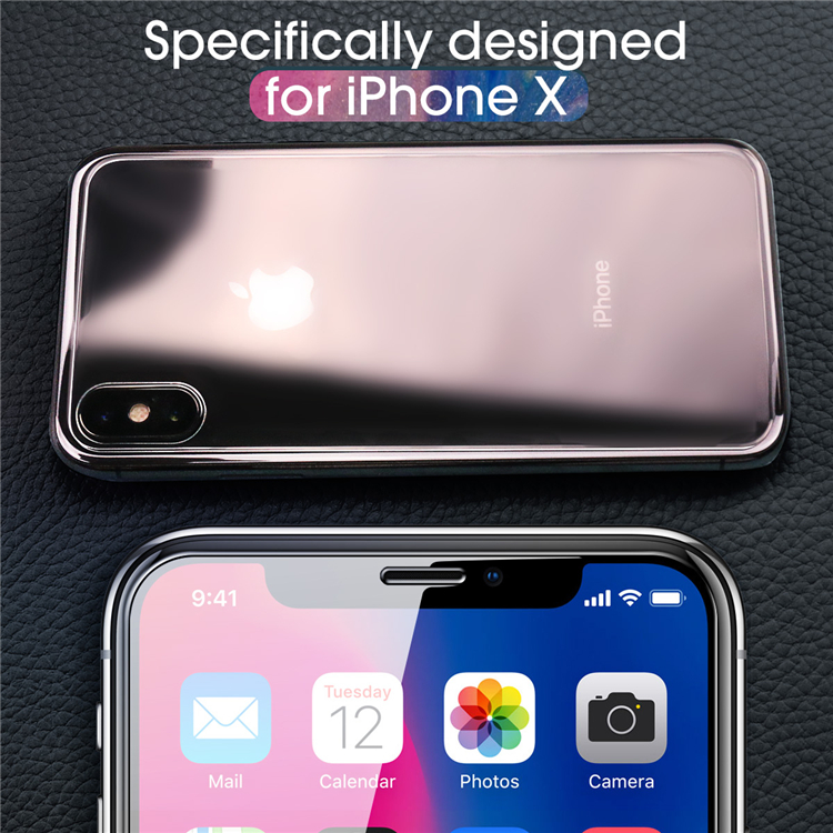 Tempered Glass Screen Protector For iPhone X[3 Pack ][Combined Package]with accessories