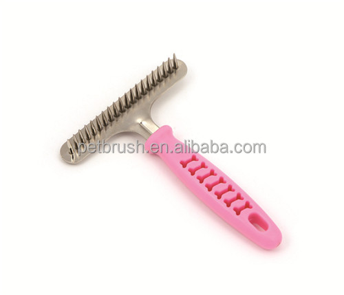 Green ABS eco-friendly pet brush suitable for most dogs fur Plastic Handle Pet Brush ZM1022T-20/pet brush