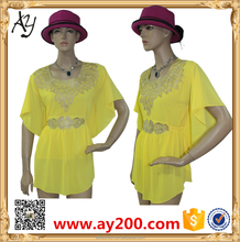 Chiffon Loose Fit Casual Pattern Summer Dress For Woman